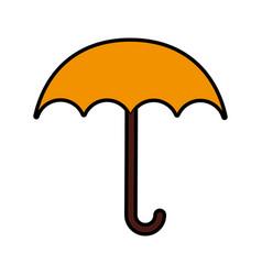 cute yellow umbrella cartoon vector image