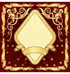 gold vintage diamond frame vector image vector image