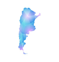 map of argentina design polygon vector image vector image