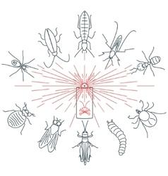 Pest control set vector image