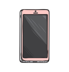 pink glamorous smartphone isolated vector image vector image