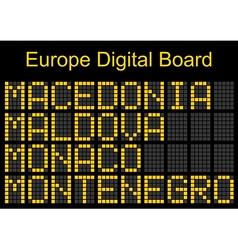 Europe airport digital boarding vector