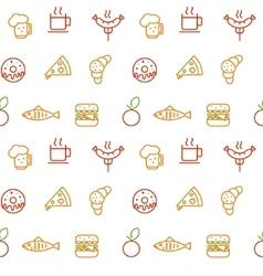 Foodstuff pattern vector image vector image
