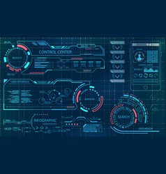 futuristic user interface virtual graphic touch vector image