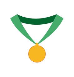 medal trophy winner sport icon vector image vector image