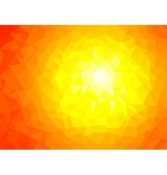 Polygonal Background for webdesign - Yellow Red vector image vector image