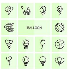 14 balloon icons vector image