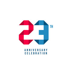 23 th anniversary celebration template design vector
