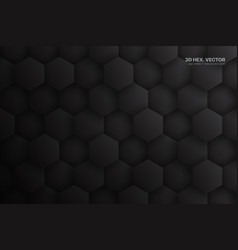 3d hex blocks dark gray technology abstract vector image