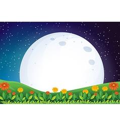 A bright full moon vector