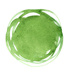 abstract green leaf color round brush watercolor vector image