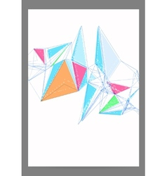 Abstract Triangle Geometric Brochure Template vector image
