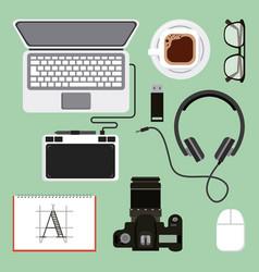 activities work equipment vector image