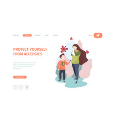 Allergy landing chronicity asthma sickness vector