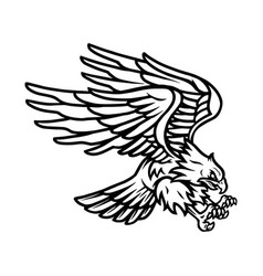 american eagle vintage tattoo template vector image