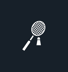 badminton icon simple vector image