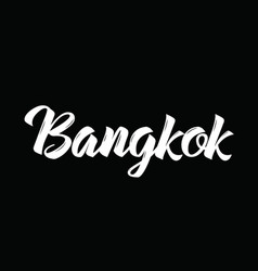 Bangkok text design calligraphy vector