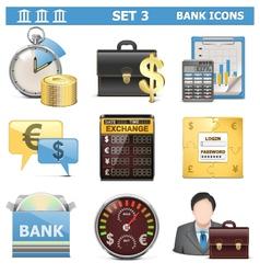Bank Icons Set 3 vector image