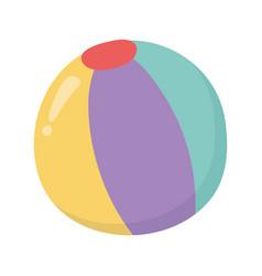 beach ball kids toys icon design white background vector image
