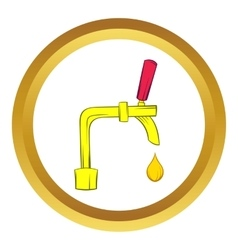 Beer tap icon cartoon style vector image