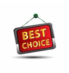 Best choice icon vector