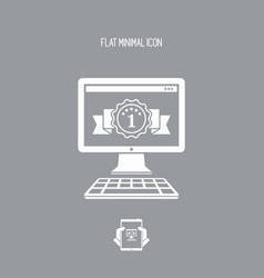 Best rated pc - flat minimal icon vector