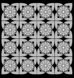 black and white floral patterns vector image