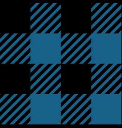 blue and black lumberjack seamless pattern vector image