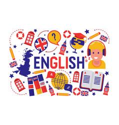 British english language learning class vector