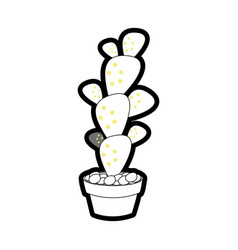 cactus in the potted vector image