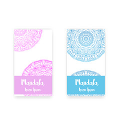 card with mandala decorative elements background vector image
