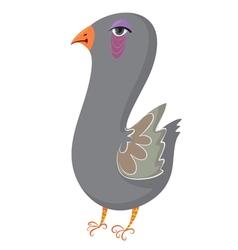 Cartoon pigeon vector