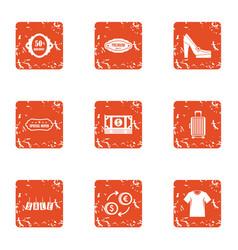 cash nexus icons set grunge style vector image
