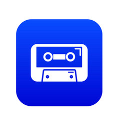 cassete tape icon blue vector image