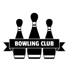 Classic bowling club logo simple style vector