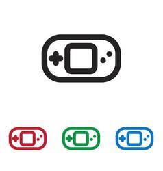 console icon vector image