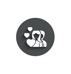 couple love simple icon group of people sign vector image