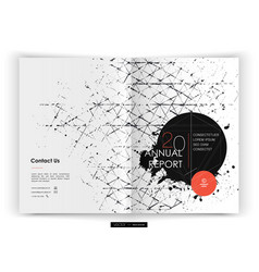 cover design annual report template vector image