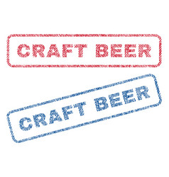 Craft beer textile stamps vector