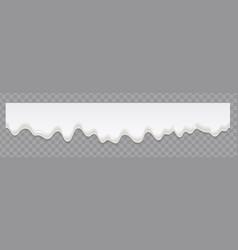 creamy liquid or yoghurt cream melt splash vector image