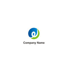 curl round technology company logo vector image
