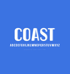 Decorative sans serif font in retro style vector