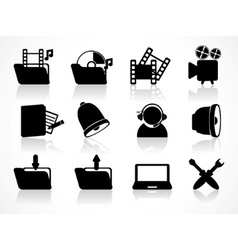 different icons vector image