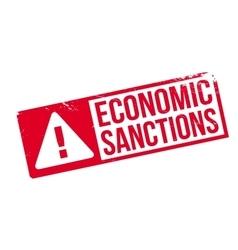 Economic Sanctions rubber stamp vector