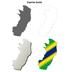 Espirito Santo blank outline map set vector image