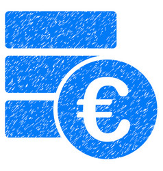Euro database grunge icon vector