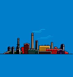 factory manufacturer banner industry industrial vector image