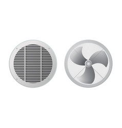 Fan and ventilation grille vector