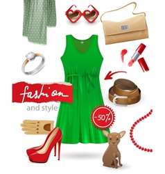fashion look vector image
