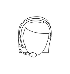 Figure face woman technological services icon vector
